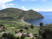fjärd little titicaca Fotografering för Bildbyråer