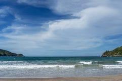 Fjärd med stranden Arkivfoto