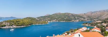 Fjärd nära Zaton i Kroatien Arkivbilder