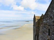 Fjärd- och monthelgon-michel abbotskloster, Normandie Arkivbilder