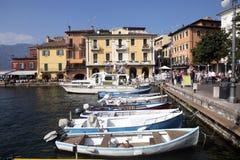 Fjärd sjö Garda, Malcesine, Italien Arkivfoto