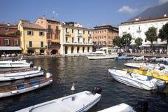 Fjärd sjö Garda, Malcesine, Italien Royaltyfria Foton