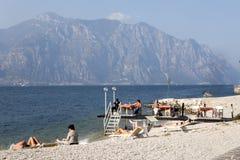 Fjärd sjö Garda, Malcesine, Italien Arkivbild