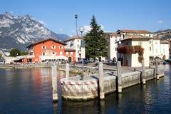 Fjärd sjö Garda, Torbelone, Italien Fotografering för Bildbyråer