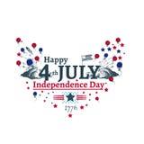 Fjärdedel av den Juli självständighetillustrationen Arkivbilder