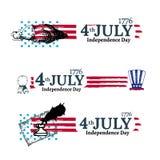 Fjärdedel av den Juli självständighetillustrationen Royaltyfri Bild