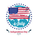 Fjärdedel av den Juli självständighetillustrationen Arkivfoto