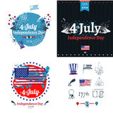 Fjärdedel av den Juli självständighetillustrationen Arkivfoton