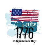 Fjärdedel av den Juli självständighetillustrationen Royaltyfri Foto
