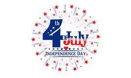Fjärdedel av den Juli självständighetsdagen Royaltyfri Bild