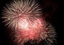 Fjärdedel av Juli brandarbeten Royaltyfria Foton