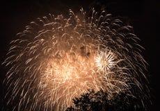 Fjärdedel av Juli brandarbeten Royaltyfri Foto
