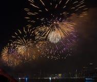 Fjärdedel av Juli fyrverkerier New York City royaltyfria foton