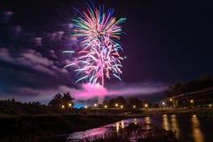 Fjärdedel av Juli i Prattville Arkivfoto