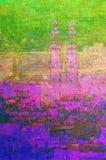 fjärdedel för målning cairo egypt för islamisk olja gammal vektor illustrationer