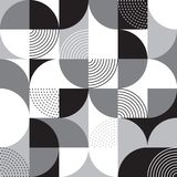 FJÄRDEDELCIRKEL I RASTER Geometrisk sömlös vektormodell arkivfoto