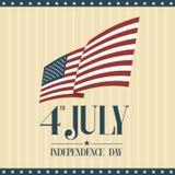 Fjärdedelen av Juli, amerikansk självständighetsdagen royaltyfri illustrationer