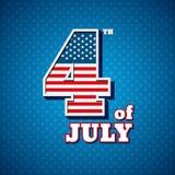 Fjärdedelen av Juli, amerikansk självständighetsdagen stock illustrationer