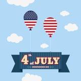 Fjärdedelen av Juli, lycklig självständighetsdagenFörenta staterna av Amer stock illustrationer