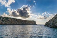 Fjärden i Sardinia Arkivbilder