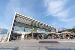 Fjärden 101, som är ett kultur- och konstkomplex i Haeundae område, Busan stad Arkivfoto