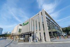 Fjärden 101, som är ett kultur- och konstkomplex i Haeundae område, Busan stad Royaltyfri Bild