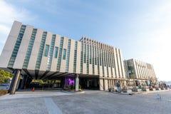 Fjärden 101, som är ett kultur- och konstkomplex i Haeundae område, Busan stad Royaltyfri Fotografi