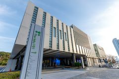 Fjärden 101, som är ett kultur- och konstkomplex i Haeundae område, Busan stad Arkivbild