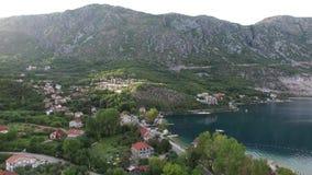 fjärdkotor montenegro stock video