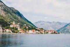 fjärdkotor montenegro Fotografering för Bildbyråer
