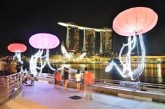 fjärdmarina singapore Fotografering för Bildbyråer