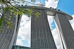 fjärdmarinaen sands singapore askfat royaltyfri fotografi