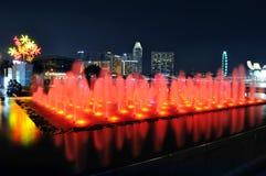 fjärdspringbrunnmarina singapore Arkivbilder