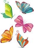 fjäril stock illustrationer