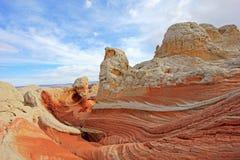 Fjäril ett vaggabildande på vitfacket, prärievargButtes södra CBS, Vermillion klippor vildmark, Arizona för Paria kanjon Royaltyfria Foton