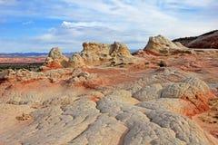 Fjäril ett vaggabildande på vitfacket, prärievargButtes södra CBS, Vermillion klippor vildmark, Arizona för Paria kanjon Royaltyfria Bilder
