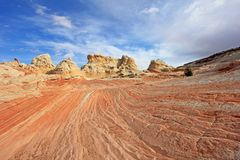 Fjäril ett vaggabildande på vitfacket, prärievargButtes södra CBS, Vermillion klippor vildmark, Arizona för Paria kanjon Arkivfoton