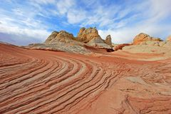 Fjäril ett vaggabildande på vitfacket, prärievargButtes södra CBS, Vermillion klippor vildmark, Arizona för Paria kanjon Royaltyfri Fotografi