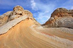 Fjäril ett vaggabildande på vitfacket, prärievargButtes södra CBS, Vermillion klippor vildmark, Arizona för Paria kanjon Arkivbilder