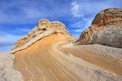 Fjäril ett vaggabildande på vitfacket, prärievargButtes södra CBS, Vermillion klippor vildmark, Arizona för Paria kanjon Arkivfoto