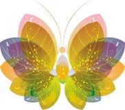 fjäril färgrik eps10 över white Arkivbild