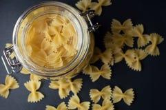 Fjäril formad italiensk pasta Royaltyfri Fotografi
