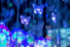 Fjäril formade dekorativa ljus Royaltyfri Foto