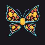 Fjäril från skinande kulöra ädelstenar Fotografering för Bildbyråer