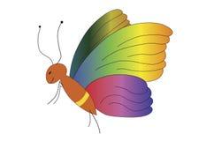 Fjäril med vingar i många färger Fotografering för Bildbyråer