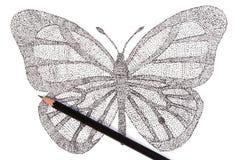 Fjäril som göras med modellen av prickar Royaltyfri Foto