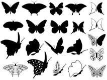 Fjärilar Vektor Illustrationer