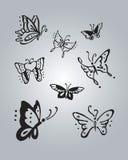 Fjärilar 2 Arkivfoto
