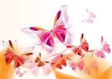 fjärilar card nätt Royaltyfri Illustrationer