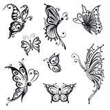 Fjärilar kryp Arkivbilder